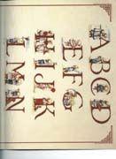 Schema punto croce Alfabeto Bimbi 1
