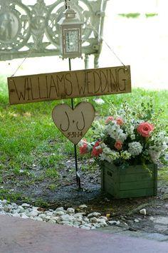 Entrance to wedding/reception area