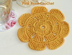 Centrinho-Flor-Crochet-Flower-Mini-Mat-Coaster.jpg (800×619)