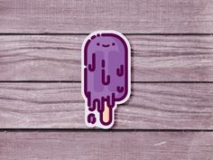 Popsicle sticker designed by Elliot Belchatovski. Connect with them on Dribbble; Ice Logo, Ice Cream Logo, Ice Cream Illustration, Pop Sicle, Popsicle Sticks, Rwby, Sticker Design, Vector Design, Stickers