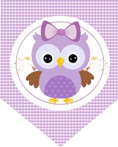 Convite Adesivo Quadrado Adesivo redondo Bala Personalizada Rótulo Bis (Frente) Co. Free Printable Banner, Free Printables, Owl Labels, Owl Banner, Owl Wallpaper, Candy Bar Labels, Purple Owl, Owl Pictures, Large Paper Flowers