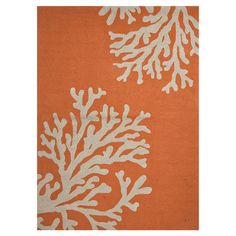 Lend a touch of underwater charm to your poolside or patio with this delightful rug, showcasing a coral motif in orange.    Produc...