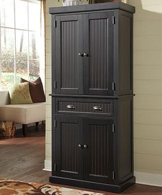 Home Styles Black Distressed Wood Pantry | zulily