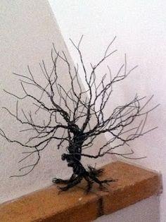 Craft hand-made tree lamp