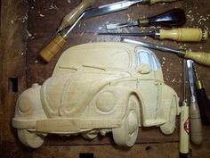 VW Beetle (Brazilian Fusca) & Hazet Toolbox - by Dilo Marcio Fernandino @ LumberJocks.com ~ woodworking community