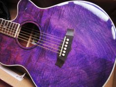 PURPLE-FLAME-FOLK-ELECTRO-ACOUSTIC-ELECTRIC-GUITAR-WITH-GIG-BAG-STRAP-DVD-ETC