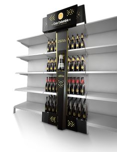 Point of purchase displays and exhibition booths for trade-shows created by… Pos Display, Wine Display, Display Design, Booth Design, Display Shelves, Store Design, Banner Design, Point Of Purchase, Point Of Sale