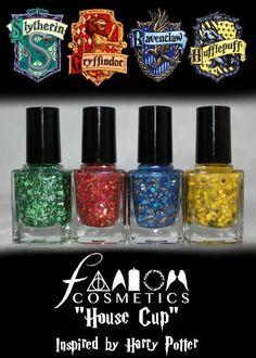 House Cup polishes, Fandom Cosmetics i wantttttt these