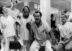 """One Flew Over the Cuckoo's Nest""  Jack Nicholson stars as Randle Patrick McMurphy:  Fabulous film!"