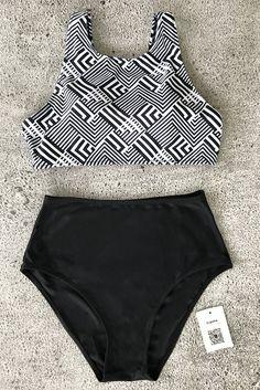 Cupshe Hide And Seek Tank Bikini Set