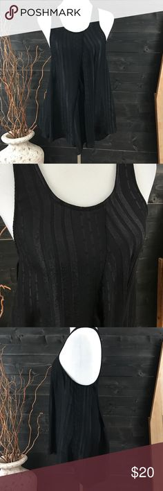 Zara Asymmetrical Tank Gorgeous Asymmetrical Tank - Black with Pattern Design Throughout - Racer Back - Excellent Used Condition - Offers Welcomed Zara Tops