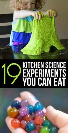 19 Edible Kitchen Science Experiment! Awesome list of science projects kids can make and eat too. Great list for summer for Preschool, Kindergarten, 1st grade, 2nd grade, and 3rd-6th grade elementary students.