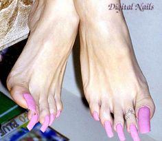 Barbie pink HIDEOUS toe nails