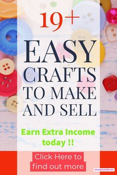 How about 19 DIY crafts to make money with today? This post list some of the most profitable crafts to make and sell. and sell Money Making Crafts, Crafts To Make And Sell, Diy Crafts For Kids, How To Make Money, Sell Diy, Craft Ideas, Kids Diy, Diy Jewelry To Sell, Craft Fair Displays