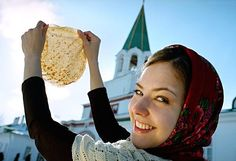 This week Russians celebrate Maslenitsa. The word масленица comes from the noun масло (butter). It's a traditional Russian celebration marking the end of winter and the arrival of spring. This famous holiday lasts for one week to be spent eating lots and lots of blini (Russian crepes). Blini are said to symbolize the sun, as they are round and warm.