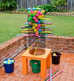 Better Homes and Gardens outdoor Kerplunk family game pattern sheet: