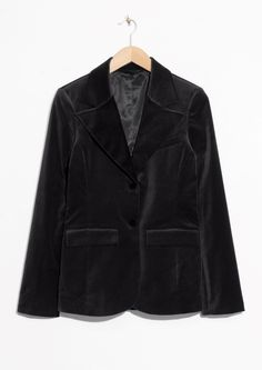 & Other Stories | Velvet Blazer in Black