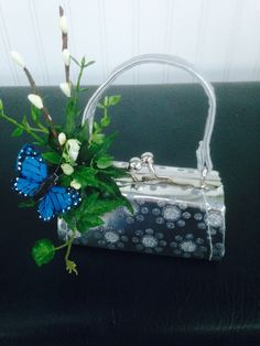 Mini purse with a cute butterfly floral