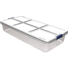 Walmart Under Bed Storage Extraordinary Sterilite 74 Qt Ultra Clear Under Bed Box With Gray Lid & Latches