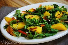 Salada de Rúcula com Manga - Salad Recipes, Vegan Recipes, Menu Dieta, Good Food, Yummy Food, Light Recipes, Plant Based Recipes, Food Inspiration, Food And Drink