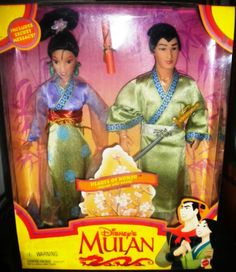 BNIB Disney 1997 Mulan and Shang Hearts Of Honor Barbie Mattel 19019