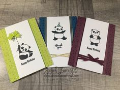 Party Pandas by Stampin' Up! one of the free sets you can earn during Sale.a.bration | Sarah Lancaster