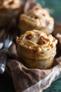 Apple Raisin Pies in Jars