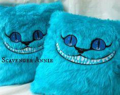 Alice In Wonderland Sinister Cheshire Cat Fur Cushion