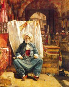 John Frederick Lewis (British 1805-1876) -  The Carpet Seller