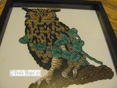 Quilled Owl  made by Paula Hogue