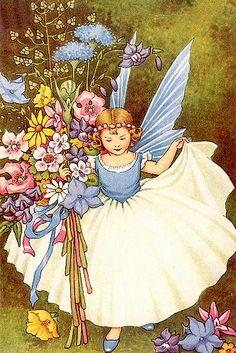 The Blue Fairy / Ida Outhwaite #art #illustration #vintage