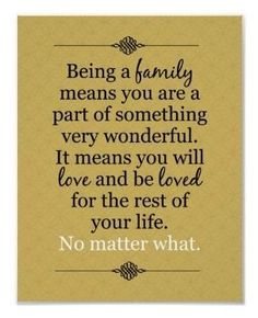 To My Boys - Family is so important