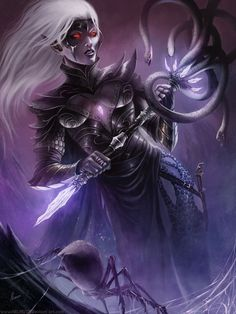 fantasy art drow | Art Inspiration and Tutorials – The Round Tablet » Female Drow ...