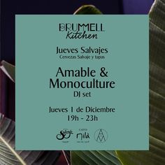 Quieres divertirte de nuevo los jueves? Nosotros queremos JUEVES SALVAJES!! Te invitamos el 1ero de Diciembre en el @hotelbrummell a disfrutar de:  Cervezas artesanas by @CervezaSalvaje Comida rica by @brummellkitchen Música SALVAJE by @Amabledj & Monoculture.  19h-23h - Entrada libre. Carrer Nou de la Rambla 174, 08004 Barcelona