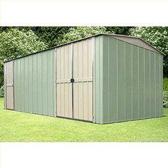 Canberra 10x17 Premium Apex Metal Workshop Shed Durable Storage 20 Year Warranty