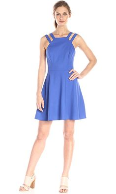 French Connection Blue Strappy Fit and Flare Short Cocktail Dress Size 0 (XS) Fit And Flare, Fit Flare Dress, Womens Cocktail Dresses, Short Cocktail Dress, French Connection, Bleu Royal, Royal Blue, Navy Blue, Winter