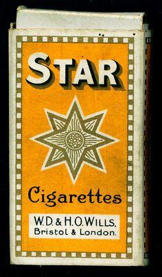 Cigarette Packet - Wills, Star, via Flickr.