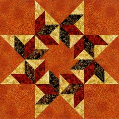 Circling Leaves - Pam Bono Designs - picture only Patchwork Patterns, Quilt Block Patterns, Pattern Blocks, Star Patterns, Star Quilt Blocks, Star Quilts, Quilting Projects, Quilting Designs, Quilting Ideas