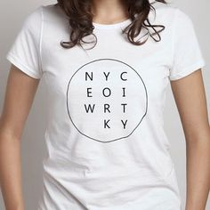 New York City Monochrome Printed White Women's Tshirt by NDLExprs, $15.95