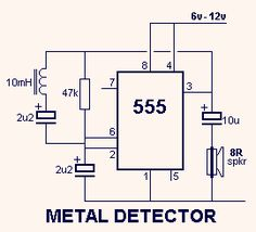 Metal detector with 555