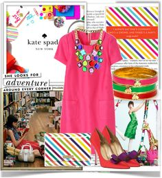 """""""Kate Spade: Color Blocking at its best!"""" by juicygal ❤ liked on Polyvore"""