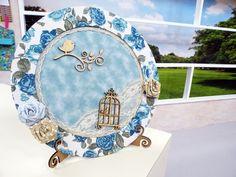 Arte Brasil | Quadro Decorativo com Forração de Tecido - Cida Frias