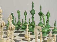 Antique Chess Shop - buyer and seller of Chess Sets and Backgammon boards Motif Vintage, Slytherin Aesthetic, Unusual Flowers, Chess Pieces, New Wall, Wall Collage, Flower Decorations, Sculptures, Artsy
