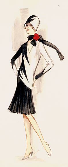 Thoroughly Modern Millie Costume Sketch