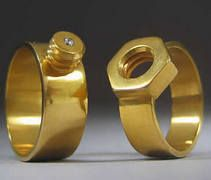 Wedding rings? I wonder which is for the bride and which is for the groom. Oh wait...