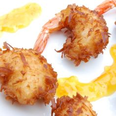 Coconut Shrimp!!! Best stuff ever, super good and amazingly taste full I bet it would be good with ravioli on it!! +=