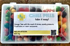 Happy Pills and Chill Pills: Free Printable labels - Great way to get rid of all the extra candy in your house!