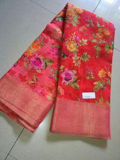 Floral Print Sarees, Saree Floral, Printed Sarees, Brocade Saree, Tussar Silk Saree, Cotton Saree, Chiffon Saree Party Wear, Wedding Silk Saree, Simple Sarees