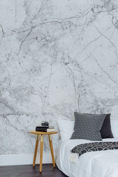 marmor schlafzimmer tapeten
