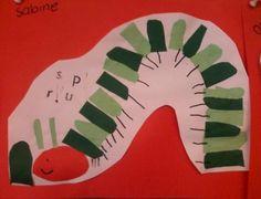 Craft Cut and paste caterpillar Informations About Knutselen Rups knippen en plakken Pin You can eas